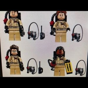 Ghostbusters & Stay Puft Building Block figures